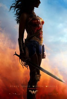 Gal Gadot unveiled the new Wonder Woman poster for San Diego Comic-Con!