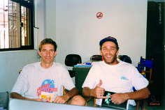 Grandes amigos e parceiros da CURTLO desde o início: Mazinho Bender, da Tribo do Pedal Selvagem, e Edu Ramires, campeão mundial de mountain bike. Ambos incentivadores e percursores do mountain bike no Brasil.