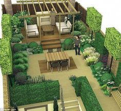 The pergola kits are the easiest and quickest way to build a garden pergola. There are lots of do it yourself pergola kits available to you so that anyone could easily put them together to construct a new structure at their backyard. Wooden Pergola Kits, Timber Pergola, Steel Pergola, Modern Pergola, Terrace Garden, Garden Spaces, Pergola Plans, Pergola Ideas, Diy Pergola