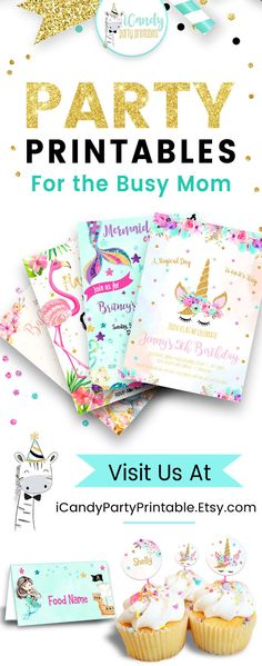This beautiful Birthday invitations for any occasion! Come visit our shop now!  https://www.etsy.com/shop/iCandyPartyPrintable