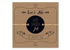 Einladungskarten - Hochzeitseinladung   mit runden Etiketten - ein Designerstück…