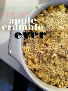 The Sydney Chronicles: The best apple crumble ever...no seriously