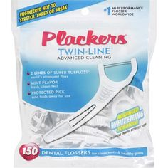 Plackers Twin-Line Dental Flossers, 150 count