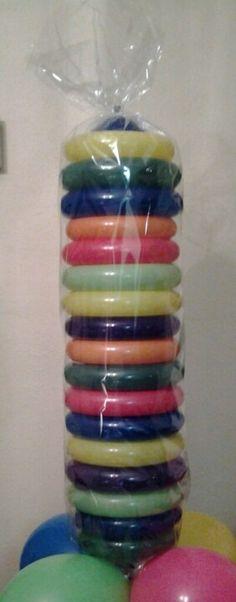 Candy roll balloon column. Balloon column.  #balloon-column #balloon-decor