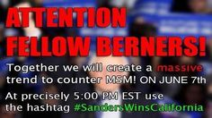 """Hillary Trolls Strike Again With Dangerous #SandersWinsCalifornia Meme DO NOT help the """"Correct the record Super PAC"""" AKA Hill Trolls. This is their huge plan to stop Bernie supporters from voting in California. Plain and simple they want #SandersWinsCalifornia to be treading on social media, plus live TV saying Hillary won. This is a double attack hail-mary, to stop Bernie supporters from voting.  DON'T FALL FOR IT! SPREAD THE WORD!"""