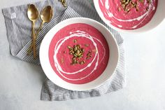 Really fun and delicious recipe for Valentine's Day! It's low carb, gluten free, and vegan! It's definitely the best beet soup I'd ever had!!