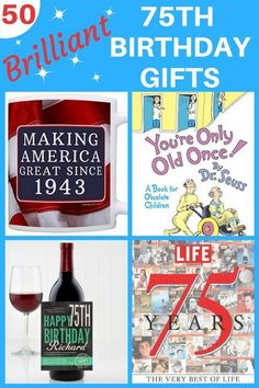 75th Birthday Gift Ideas