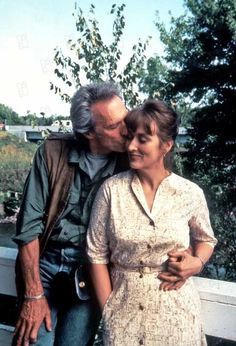"Clint Eastwood et Meryl Streep.  ""Sur la route de Madison"" 1995"