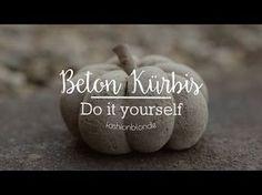DIY Beton Kürbis - YouTube