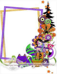 Scrapbooking TammyTags -- TT - Designer - Fecnikek, TT - Item - Frame, TT - Style - Cluster, TT - Theme - Halloween