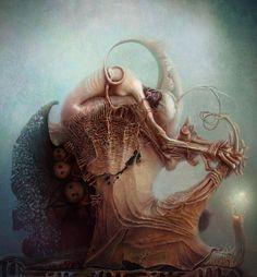 Surrealism and Visionary art: Alexandr Kumpan Arte Horror, Horror Art, Dark Fantasy Art, Dark Art, Arte Obscura, Macabre Art, Creepy Art, Bizarre Art, Art Graphique