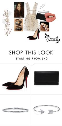 """""""Christmas #2"""" by modefan2 on Polyvore featuring mode, Christian Louboutin, Carré Royal, BERRICLE, Bling Jewelry, Charlotte Tilbury et Sloane"""