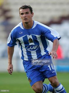 Lee McCulloch of Wigan in action during the preseason friendly match between Preston and Wigan at Deapdale on July 27 2005 in Preston England