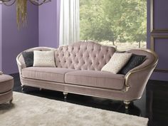 Download the catalogue and request prices of Eden | sofa By gold confort, tufted fabric sofa, eden Collection
