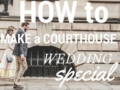 Getting married at the courthouse doesn't mean you have to forfeit all the style and sentiment of a traditional wedding!