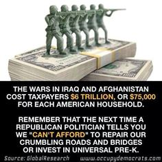 Many of the same politicians calling for even more war also say America can't afford to invest in #allofus. Shame! pic.twitter.com/qOAZh0mwlV