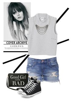 """""""God girl gone bad"""" by julietacelina ❤ liked on Polyvore featuring Monki, Torrid, Diane Von Furstenberg and Converse"""