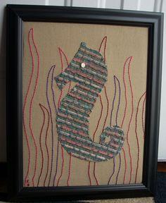 Teal Seahorse — Erin Brie Art