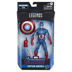Commemorate the completion of the Marvel Cinematic Universe's Infinity Saga with Captain America aka Steve Rogers as he appears in Avengers: Endgame and The Avengers in the Battle of New York. Thor Series, Marvel Series, Hasbro Marvel Legends, Marvel Legends Series, Marvel Fan, Marvel Avengers, Avengers Room, Marvel Room, Avengers Poster