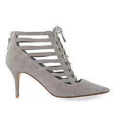 DUNE Amma Suede Court Shoes. #dune #shoes #heels