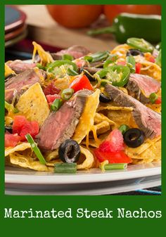 Marinated Steak Nachos have all the grilled, meaty taste of Mexican take-out. Create this taste sensation in your own home with no fuss!