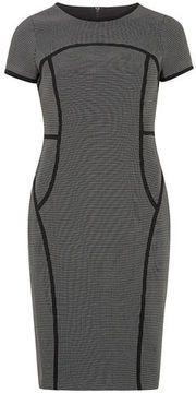 Black and white pin dot dress