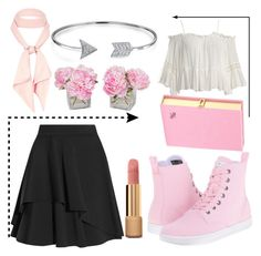 """""""cute"""" by mimi1324 on Polyvore featuring Alexander McQueen, Sans Souci, River Island, Chanel, The French Bee, Bling Jewelry, Dr. Martens and Olympia Le-Tan"""
