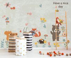 3D Cute Animal 548 Wall Murals | AJ Wallpaper 3d Wallpaper Cute, Kids Room Wallpaper, Paper Wallpaper, Self Adhesive Wallpaper, New Wallpaper, Custom Wallpaper, 3d Wall Murals, 3d Cartoon, Traditional Wallpaper