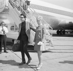 15 Sep 1968, John F. Kennedy International Airport, Long Island, New York, USA --- Roy Orbison arrives in the U.S. from London after hearing that his two young sons had died in a fire in Tennessee