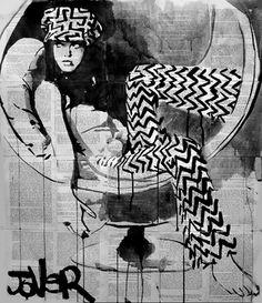 "Saatchi Online Artist Loui Jover; Drawing, ""vibe"" #art"