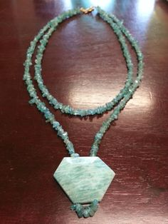 Tropical Dreams 17 Amazonite and Apatite Bead Necklace