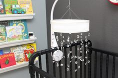 Modern Crystal Baby Mobile White Baby Mobile by TheMobileMaven, $120.00