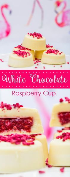 Low Carb White Chocolate Raspberry Cups. The most adorable low carb dessert out there!