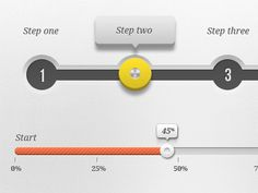 Interval slider to indicate steps. Also highlights the current step. Nice shadows.