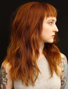 Attractive Copper Hair Color on Long Hairstyles With Bangs Attractive Copper Hair Color on Long Hair Fine Hair Bangs, Long Hair With Bangs, Long Curly Hair, Long Hair Cuts, Boys Long Hairstyles, Haircuts For Long Hair, Hairstyles With Bangs, Layered Hairstyles, Shaggy Haircuts