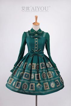 --> Recommendation: Aiyo Lolita ***Jewel*** Dark Green Lolita Jumper Dress --> Limited quantity, only 8 jumper dresses left  --> Shop it here: http://www.my-lolita-dress.com/aiyo-lolita-jewel-dark-green-lolita-jumper-dress-ay-12