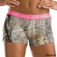 Under Armour Womens UA Camo Mesh Boy Short. I kinda want them...weird..