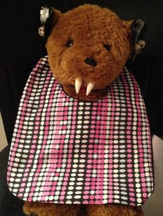 Pink Dots Baby Bib by babybatboutique on Etsy, $10.99