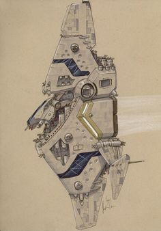 Unique take on a spaceship. Reminds me of the Homeworld mothership.join us http://pinterest.com/koztar
