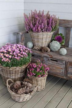 Top 10 Flower Pots That Will Make Your Porch Amazing - Page 3 of 10 - Top Inspired Strawberry Planters Diy, Backyard Buildings, Garden Planters, Fall Planters, Diy Planters, Farmhouse Design, Farmhouse Decor, Flower Pots, Flower Ideas