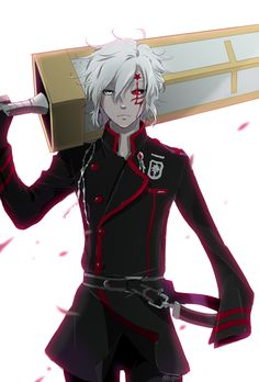 Anime heterochromia / odd eyes white red (allen walker D.Gray-man)