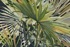 Palmetto watercolor   Brigid Himel