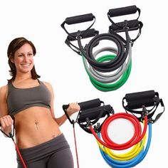 YOUDirect New Style Heavy Resistance Band Stretch Body Shape Latex Yoga Rope Wall Pulley Chest Expander Black