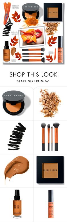 """Orange Beauty"" by drigomes ❤ liked on Polyvore featuring beauty, Bobbi Brown Cosmetics, Rimmel, NYX and Franke"
