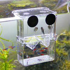 Multifunctional Fish Breeding Isolation Box Incubator For Fish Tank Aquarium NEW 10x7x12.7cm/ 7.7x6.8x11cm Breeding Boxes