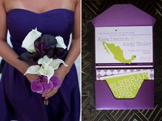 A Modern Purple and Green Mexico Wedding