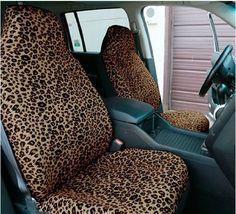 Juegos, juguetes y artículos antiguos- Asientos de piel de leopardo, años 80