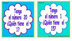 """BLOGICMATES: """"YO TENGO EL Nº...¿QUÉN TIENE EL Nº...?"""