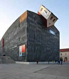 Vienna Museum of Modern Art. The house is a sculpture.