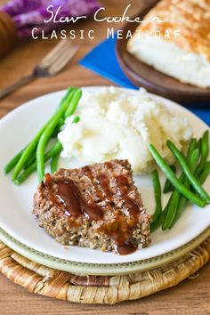 Slow Cooker Classic Meatloaf on MyRecipeMagic.com  Our family devours this slow cooker meatloaf. It makes enough for leftovers and freezes well!